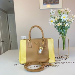 Prada Lux Saffiano Medium Shoulder Bag Totes